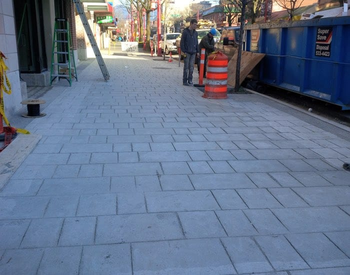 Vancouver Chinatown Commercial concrete flat work project