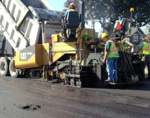 our professional do asphalt paving on street in Vancouver