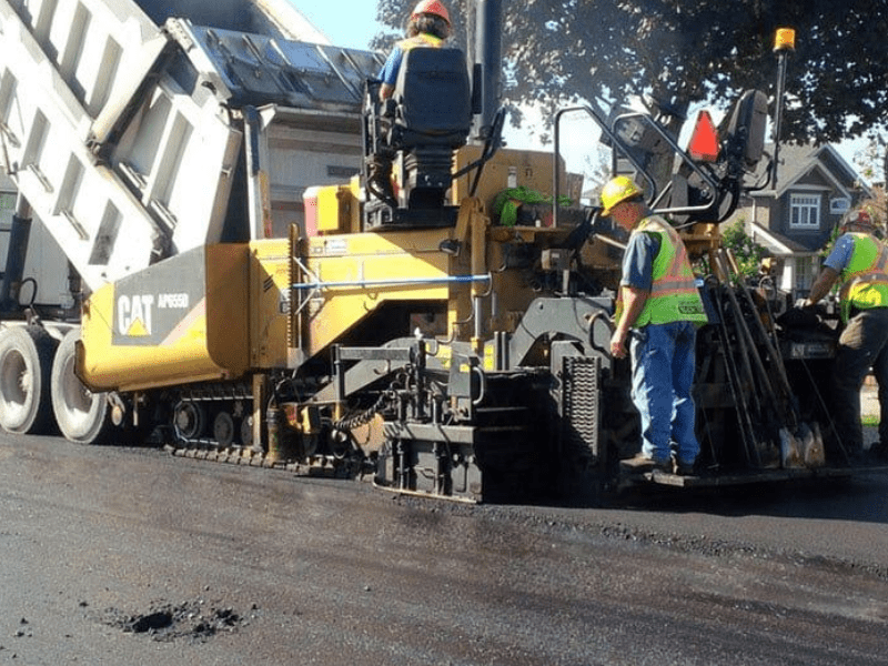 our contractors are doing asphalt paving on the street in Vancouver