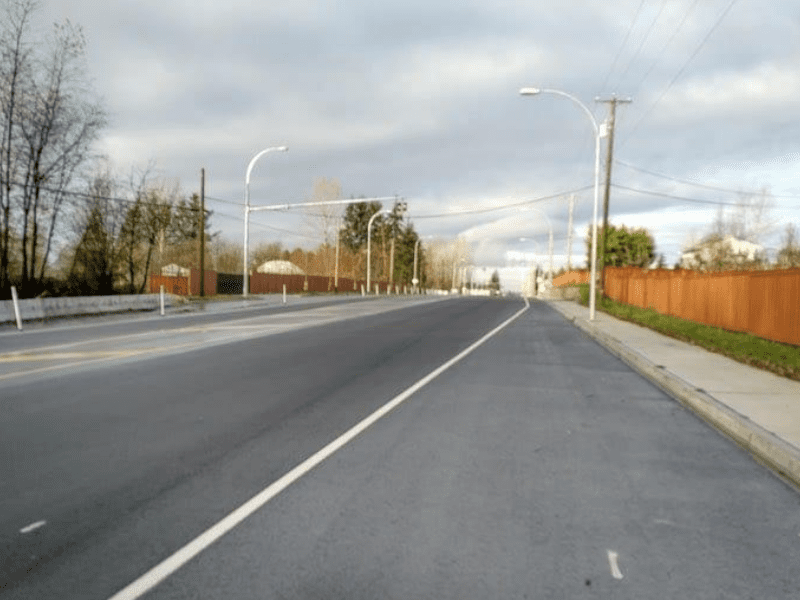 Langley municipal paving project on Fraser highway in Langley