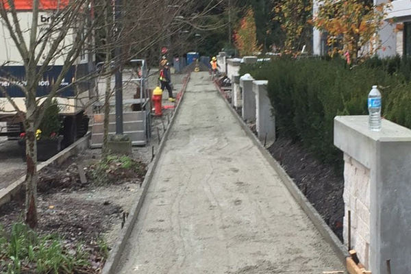 One of the municipal concrete flatwork projects